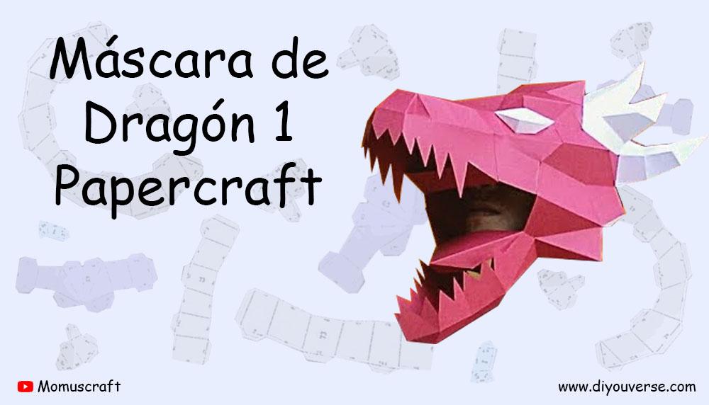Máscara de Dragón 1 Papercraft