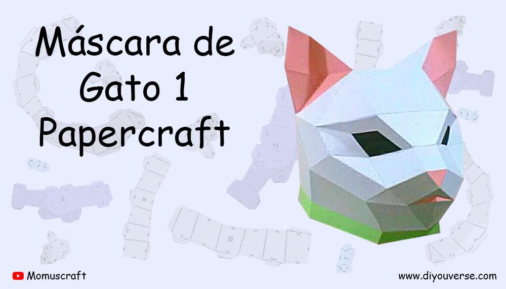 Máscara de Gato 1 Papercraft