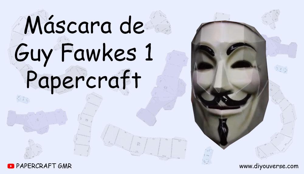 Máscara de Guy Fawkes 1 Papercraft