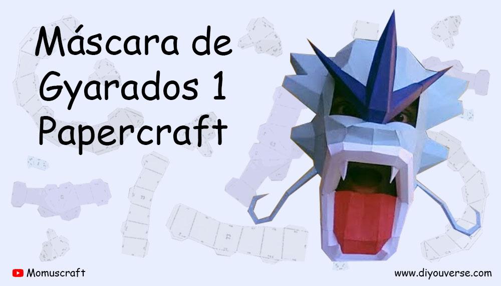 Máscara de Gyarados 1 Papercraft
