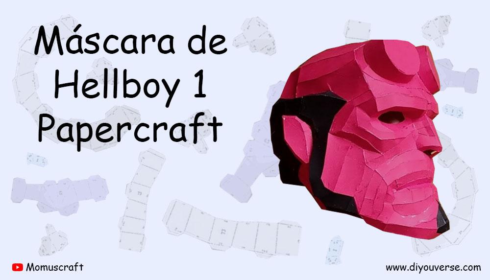 Máscara de Hellboy 1 Papercraft