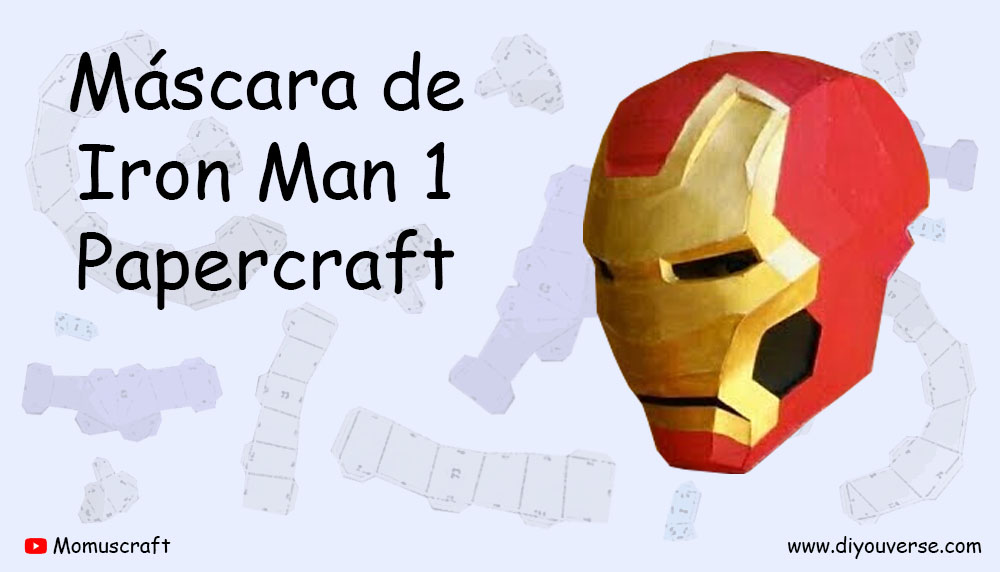 Máscara de Iron Man 1 Papercraft