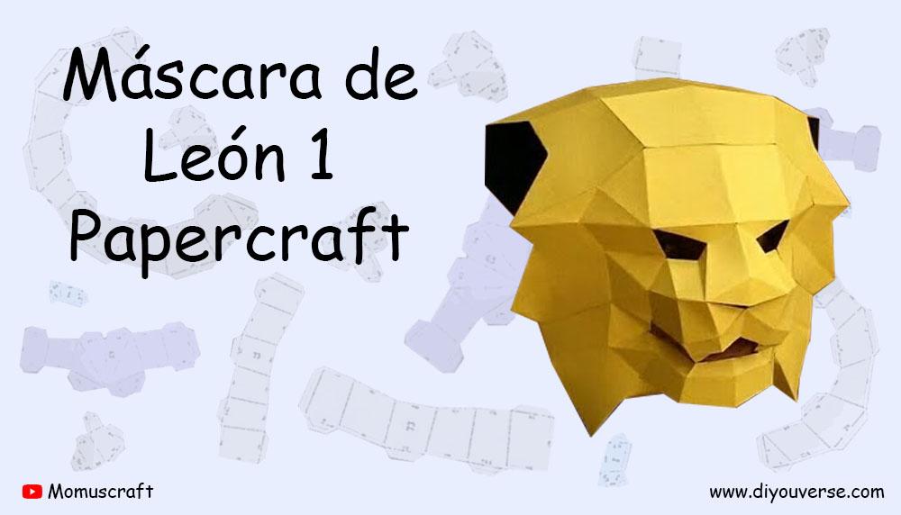 Máscara de León 1 Papercraft