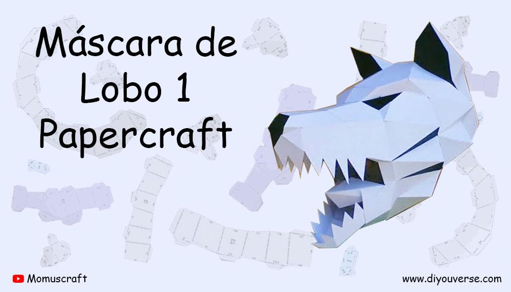 Máscara de Lobo 1 Papercraft
