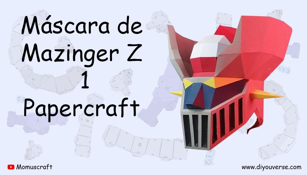 Máscara de Mazinger Z 1 Papercraft