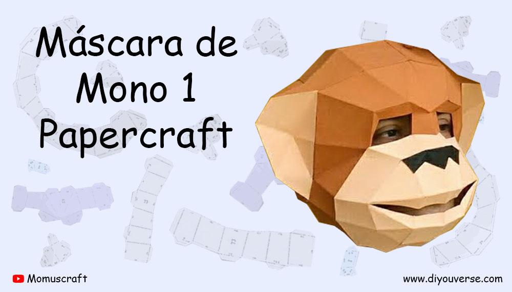 Máscara de Mono 1 Papercraft