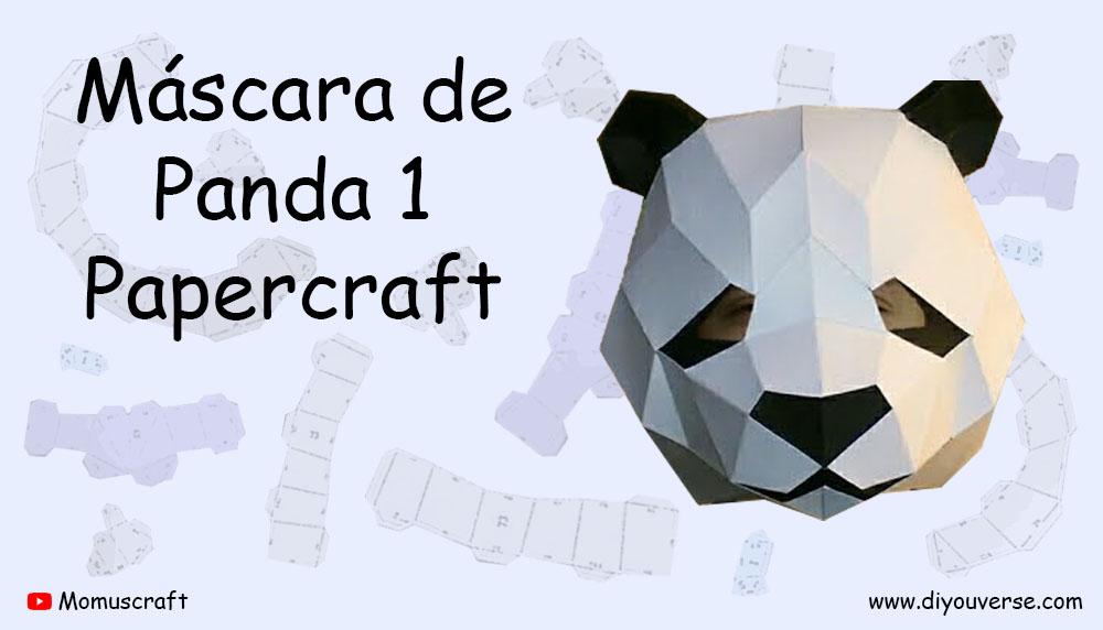 Máscara de Panda 1 Papercraft