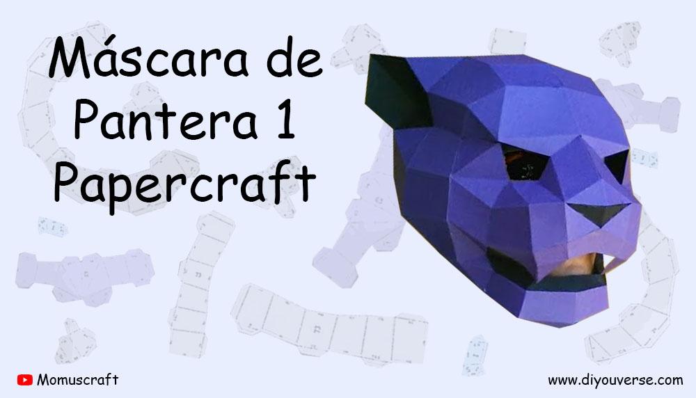 Máscara de Pantera 1 Papercraft