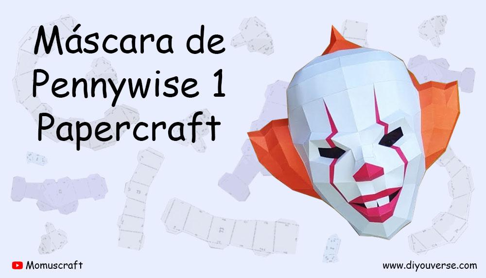 Máscara de Pennywise 1 Papercraft