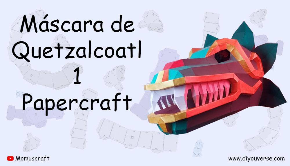 Máscara de Quetzalcoatl 1 Papercraft