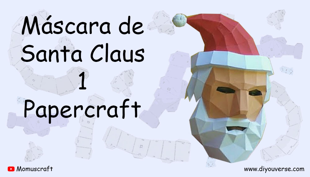 Máscara de Santa Claus 1 Papercraft