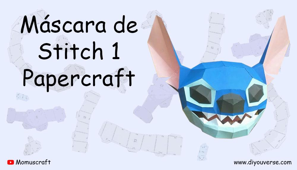 Máscara de Stitch 1 Papercraft
