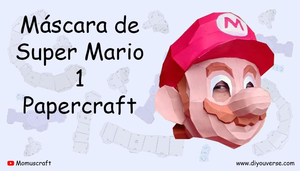 Máscara de Super Mario 1 Papercraft