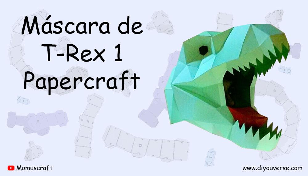 Máscara de T-Rex 1 Papercraft