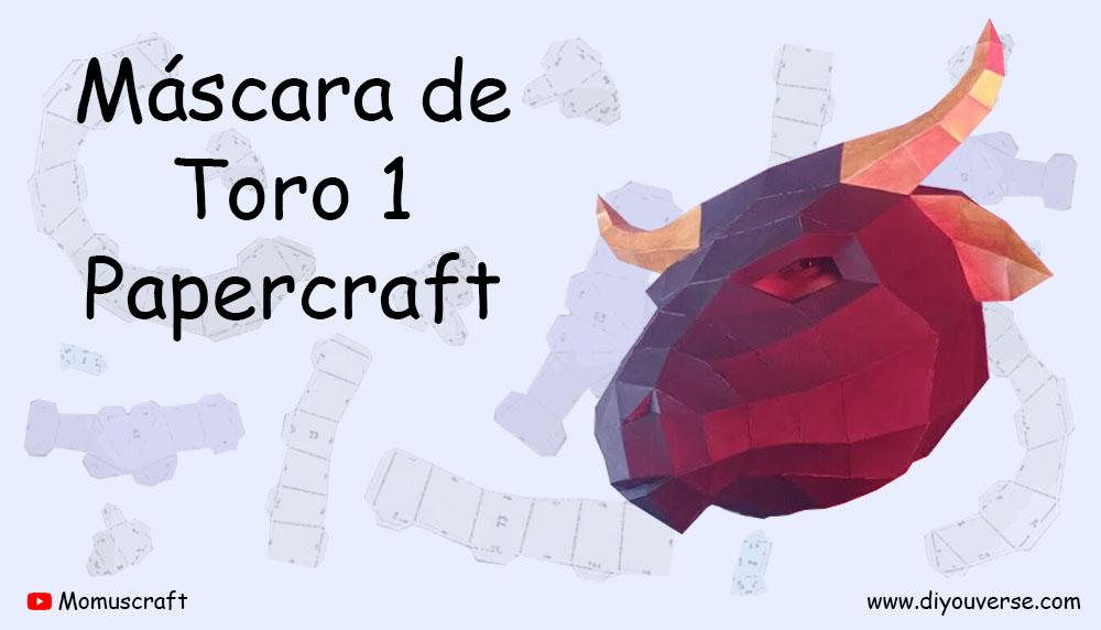 Máscara de Toro 1 Papercraft