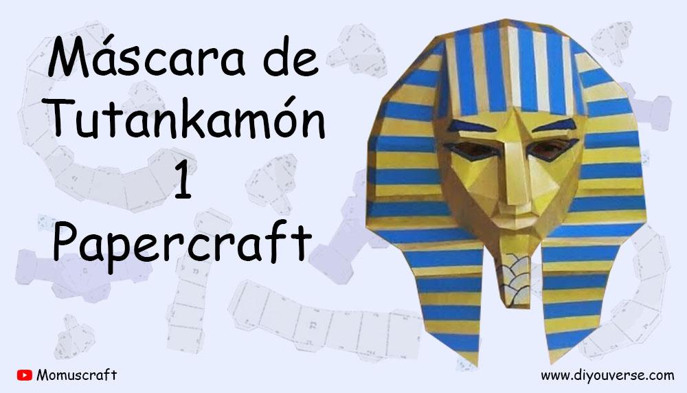 Máscara de Tutankamón 1 Papercraft