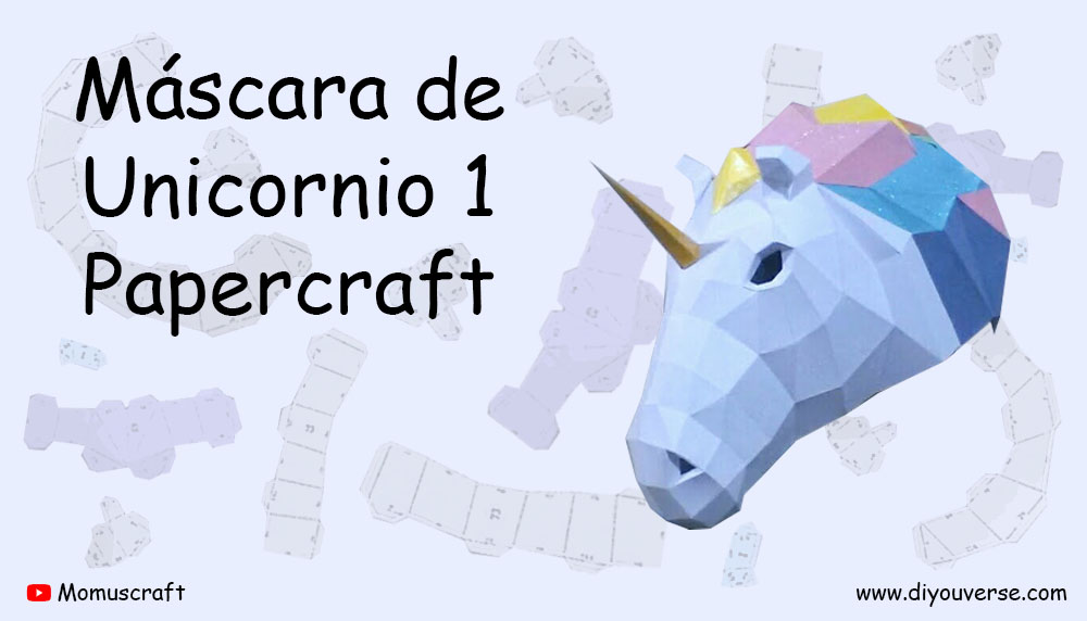 Máscara de Unicornio 1 Papercraft