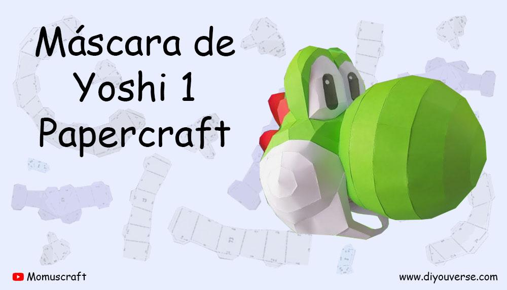 Máscara de Yoshi 1 Papercraft