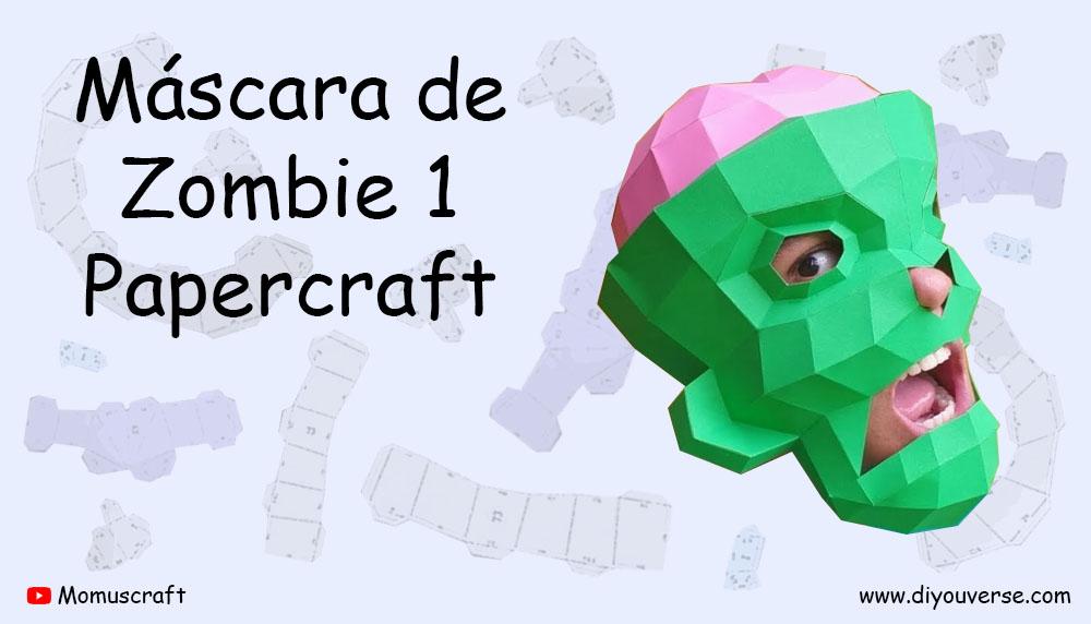 Máscara de Zombie 1 Papercraft