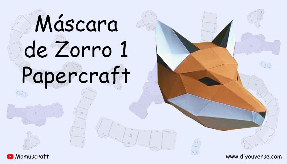 Máscara de Zorro 1 Papercraft