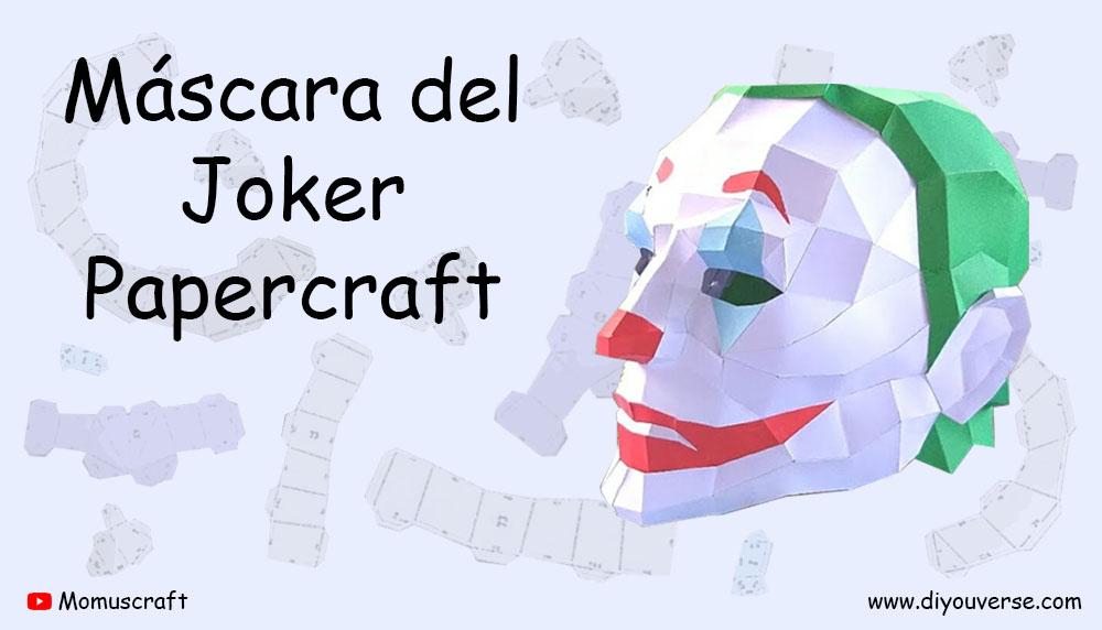 Máscara del Joker 1 Papercraft
