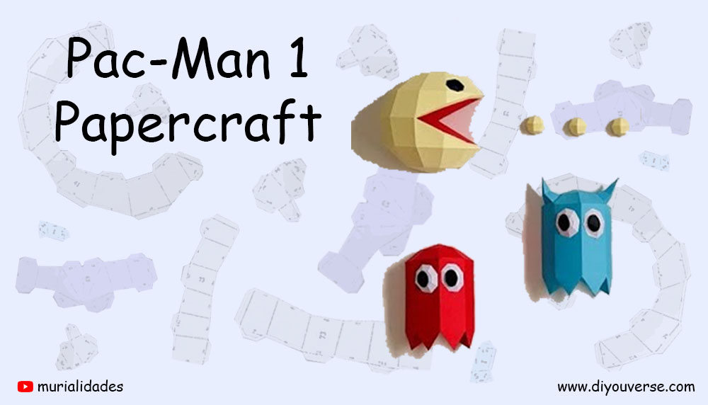 Pac-man 1 Papercraft