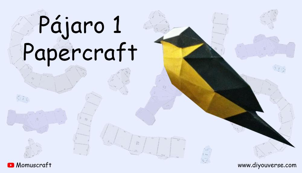 Pájaro 1 Papercraft