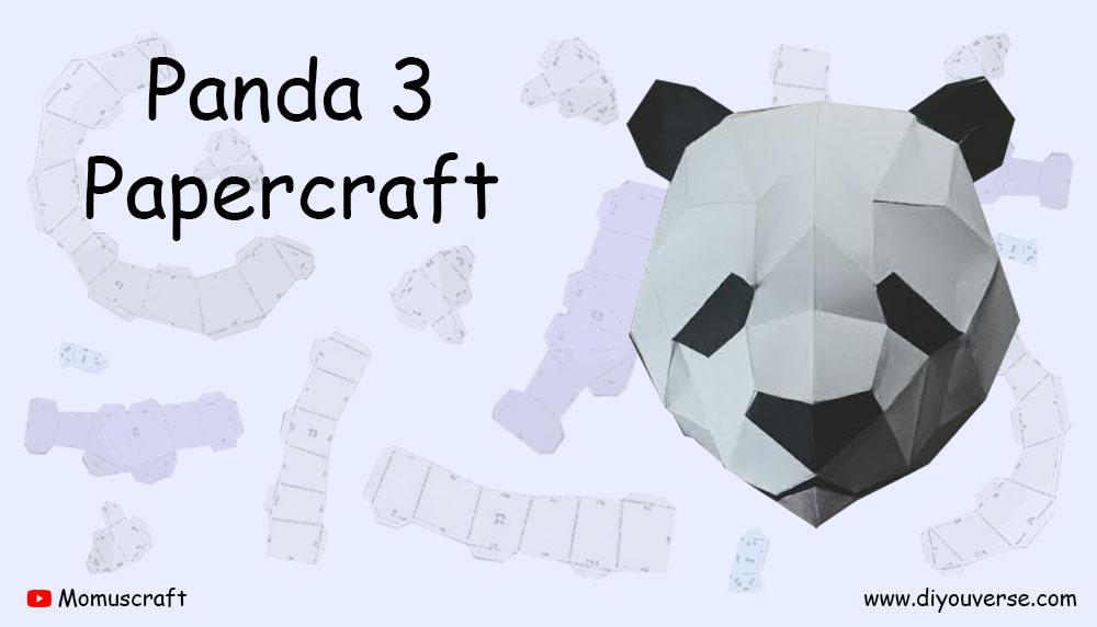 Panda 3 Papercraft