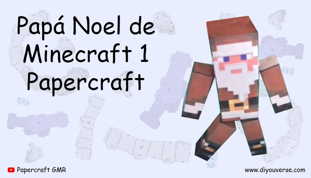 Papa Noel de Minecraft 1 Papercraft