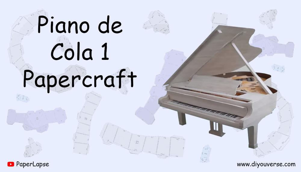 Piano de Cola 1 Papercraft