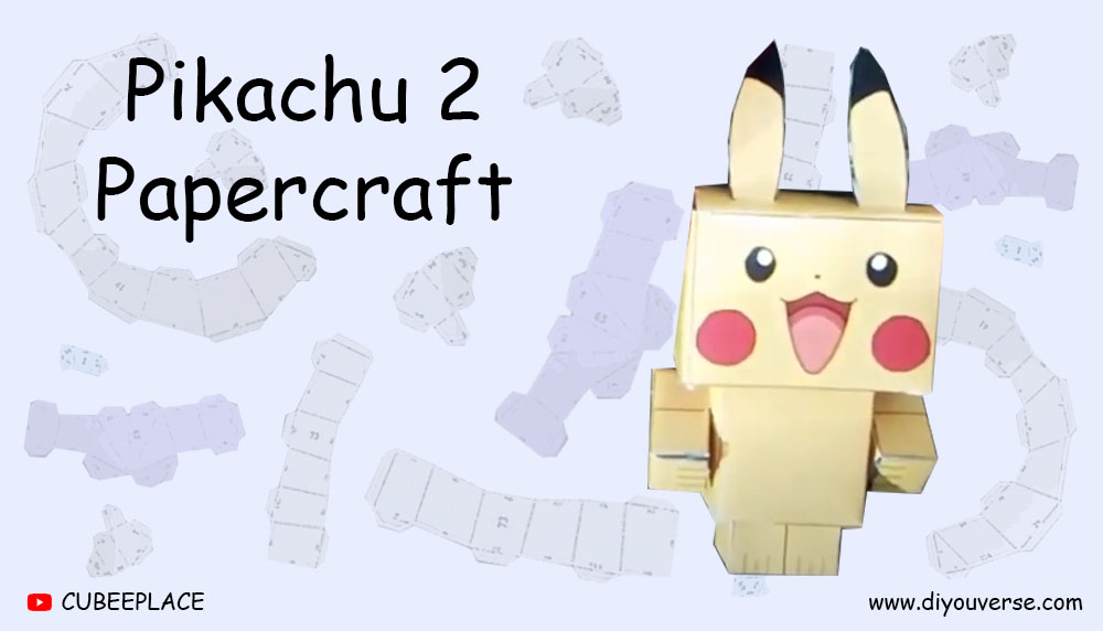 Pikachu 2 Papercraft