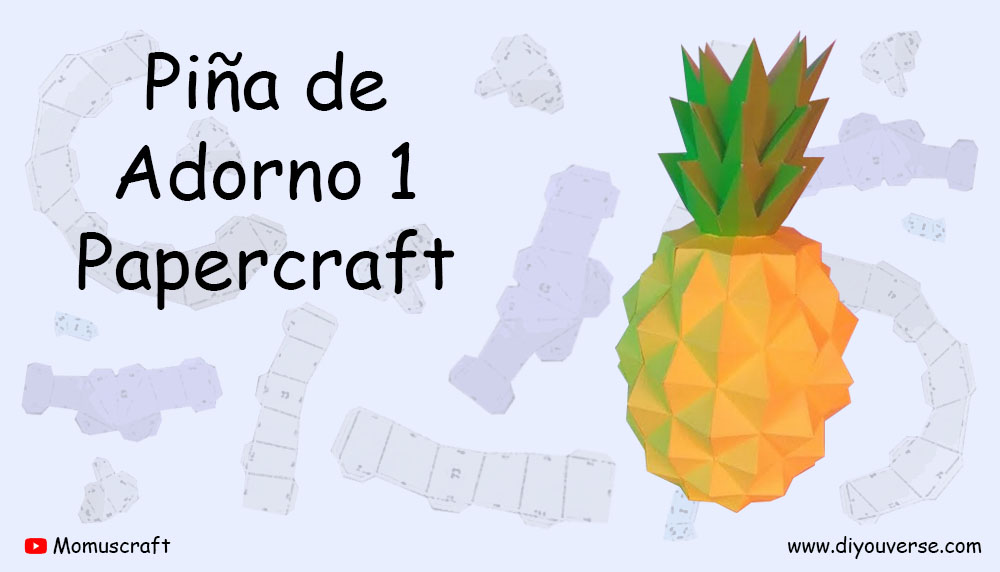 Piña de Adorno 1 Papercraft