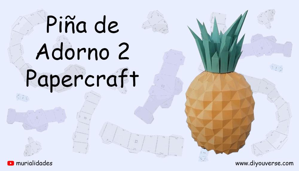 Piña de Adorno 2 Papercraft