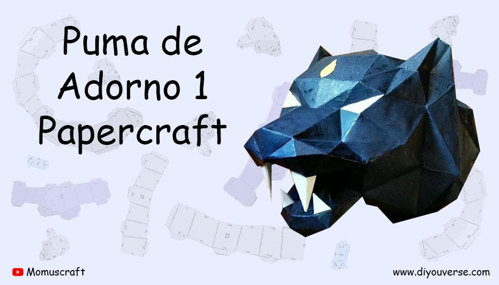 Puma de Adorno 1 Papercraft