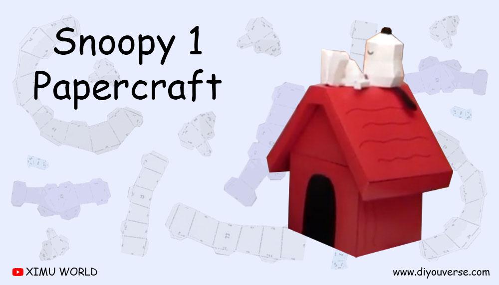 Snoopy 1 Papercraft