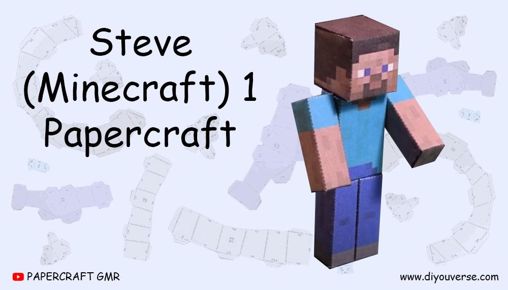 Steve (Minecraft) 1 Papercraft