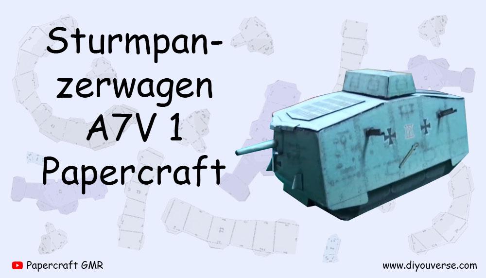 Sturmpanzerwagen A7V 1 Papercraft