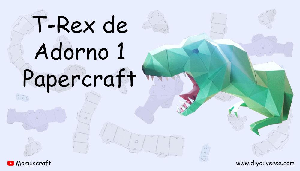 T-Rex de Adorno 1 Papercraft