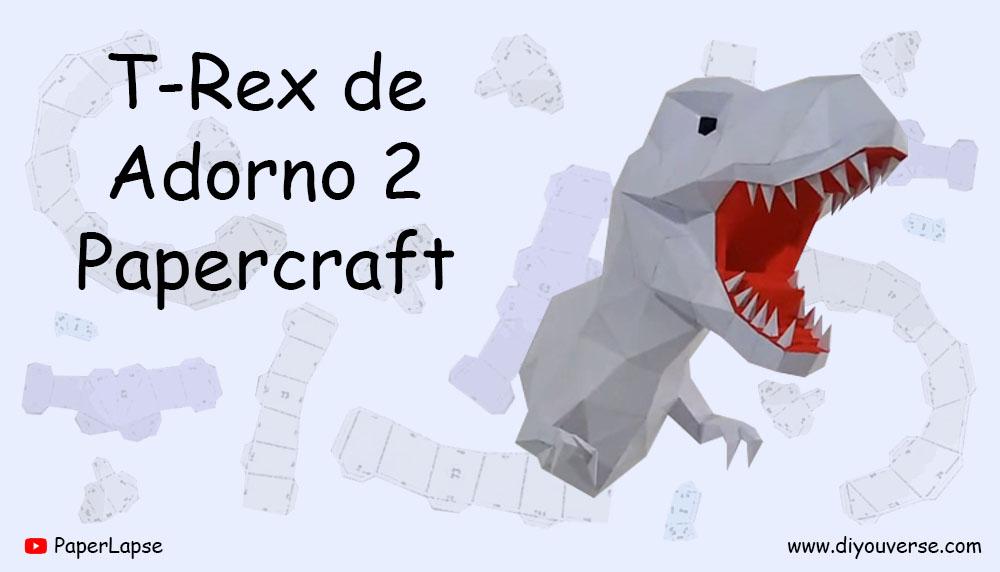 T-Rex de Adorno 2 Papercraft