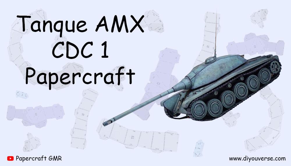 Tanque AMX CDC 1 Papercraft