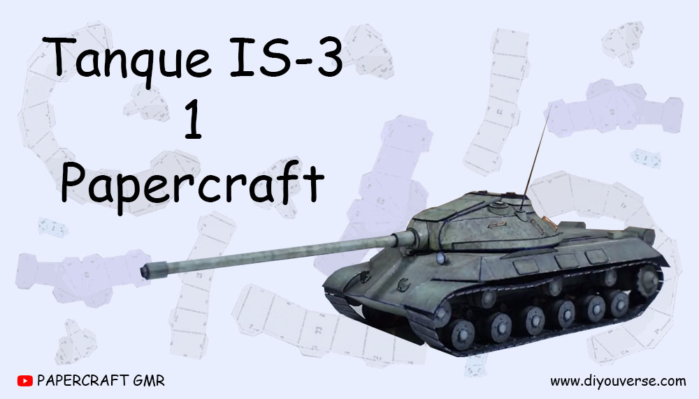 Tanque IS-3 1 Papercraft