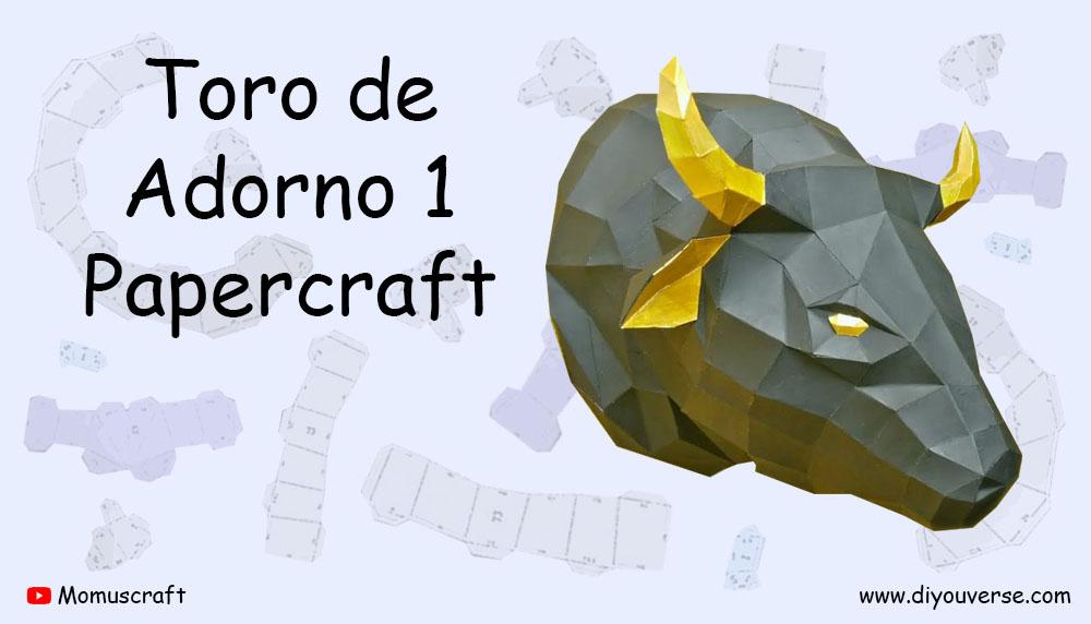 Toro de Adorno 1 Papercraft