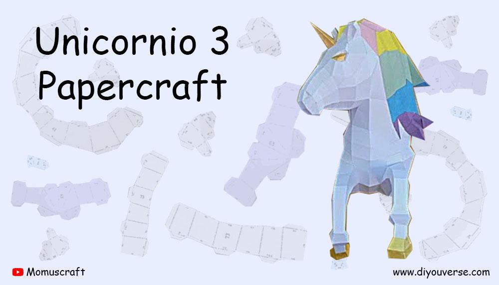 Unicornio 3 Papercraft