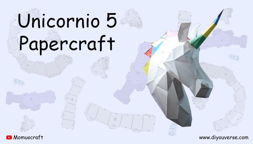 Unicornio 5 Papercraft