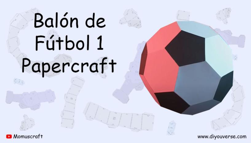 Balon de Futbol 1 Papercraft
