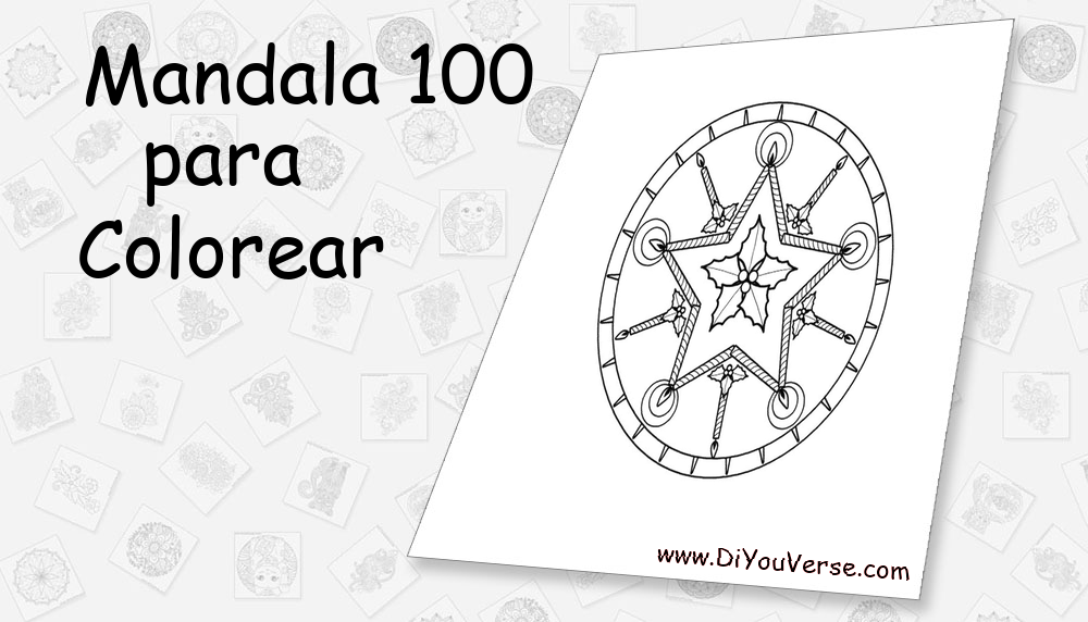 Mandala 100 Para Colorear