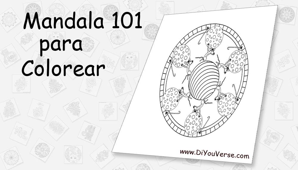 Mandala 101 Para Colorear