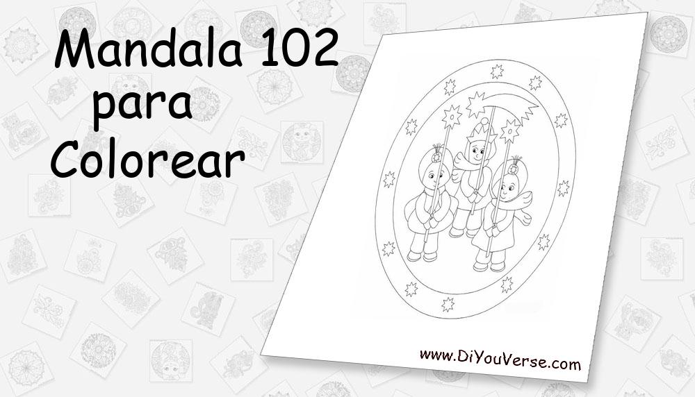 Mandala 102 Para Colorear