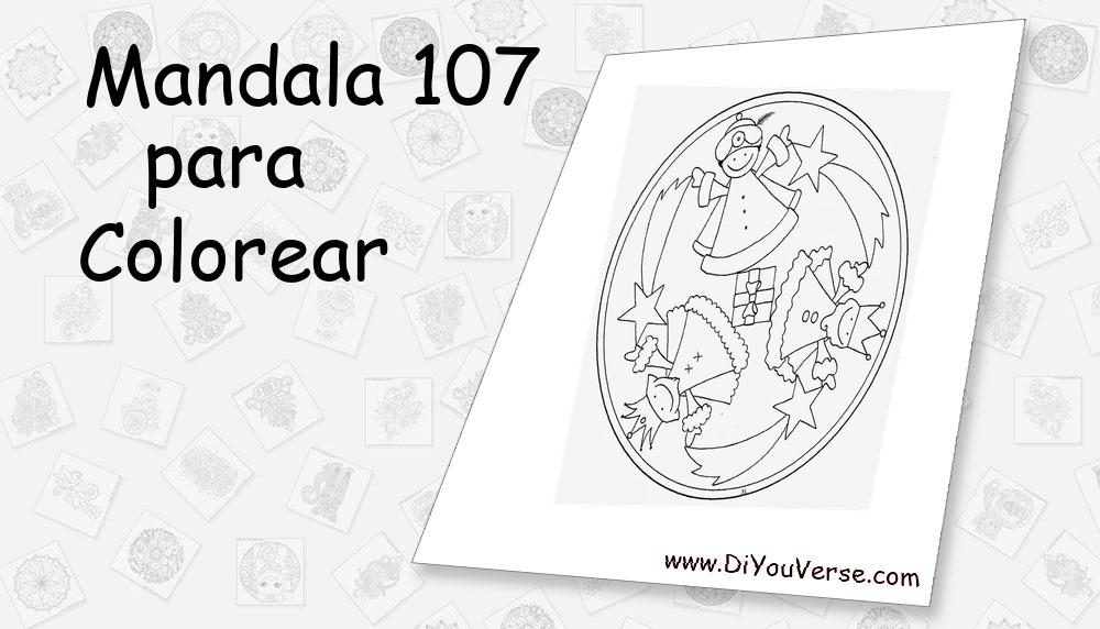 Mandala 107 Para Colorear