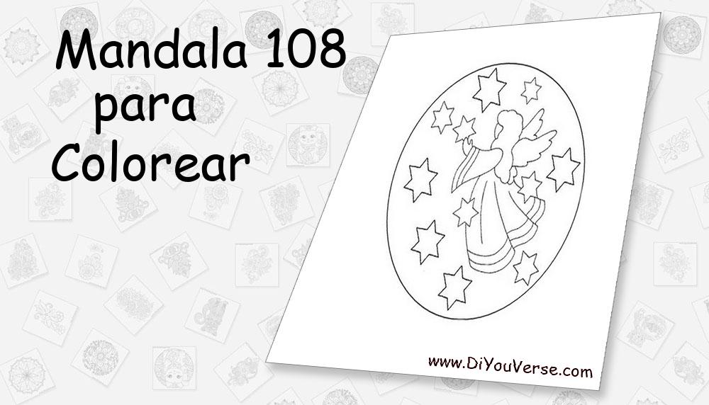 Mandala 108 Para Colorear